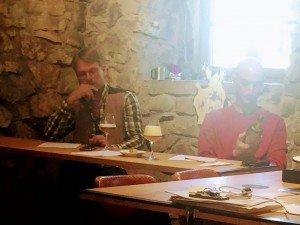 Axel und Jens als Jury der Präsentationen