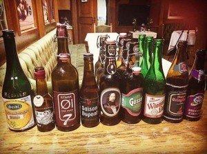 Eine kleine Auswahl der verkosteten Biere des Abends