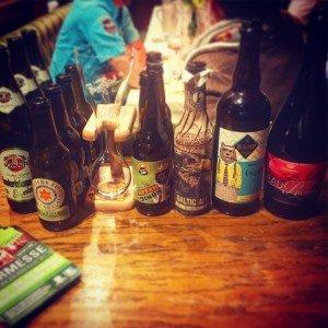Ordentliche Biere wurden auch verkostet!