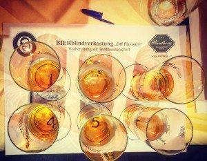 6 Biere mit 5 bekannten Bierfehlern. Welcher ist wo zu finden?